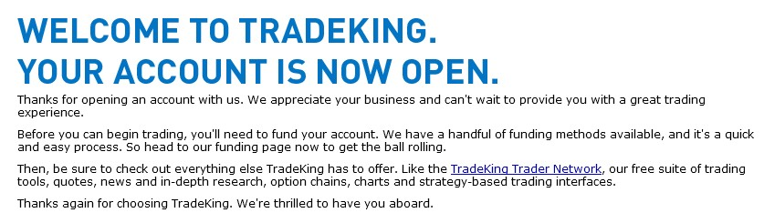 TradekingWelcome