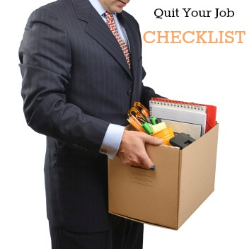 quit your job checklist