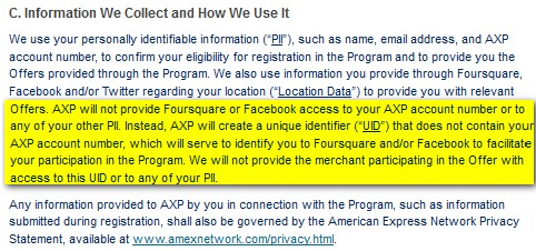 American Express Social Media Privacy