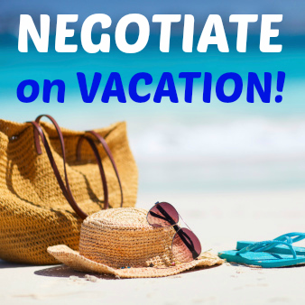 negotiate on vacation
